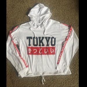 Tokyo Hooded Long Sleeve Tee Shirt